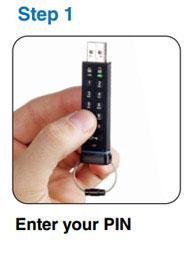 datAshur Encrypted Pin USB Drive - Step 1