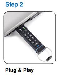 datAshur Encrypted Pin USB Drive - Step 2
