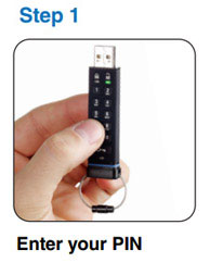 datAshur Encrypted Pin USB Drive - Step 1