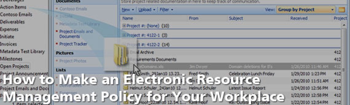 How to Make an Electronic Resource Management Policy for Your Workplace