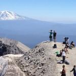 The top of Mt. St. Helen's